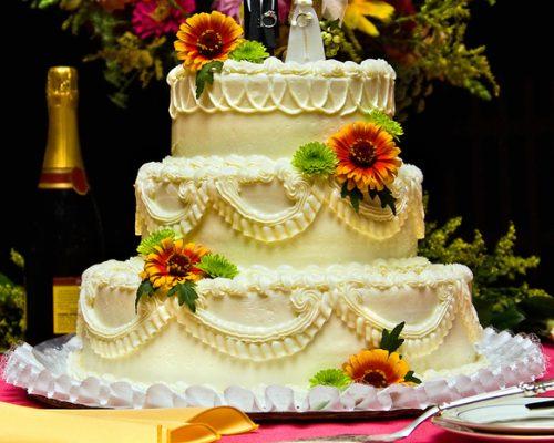 flower cake fuchsia